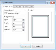 microsoft word publishing layout view understanding the layout guides dialog box in publisher publisher