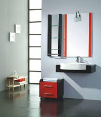 corner bathroom vanity with legs in white color and cabinet idea