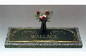 granite grave markers companion bronze grave marker with vase on granite base