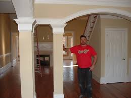 arched interior doorways with wood pillars google search