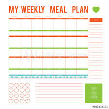 printable meal planner with calorie counter meal plan for a week calendar page vector printable boxes half