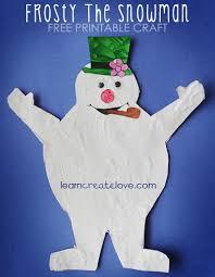 printable frosty snowman craft