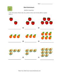 addition picture worksheets for ukg kids kidschoolz