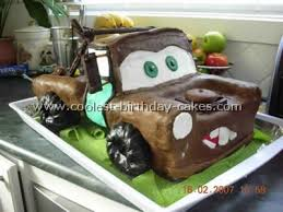 coolest homemade tow mater cakes