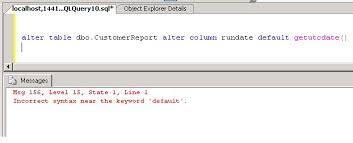 Tsql Alter Table Add Column Working With Default Constraints In Sql Server