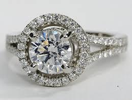 halo design rings images Designer split shank halo pave engagement ring in platinum png