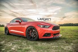 Satin Black Mustang 2015 Competition Orange Mustang Gt On Velgen Wheels Vmb9 Satin