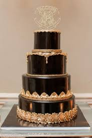 custom wedding cakes regal gold black wedding cake palermo s custom cakes bakery