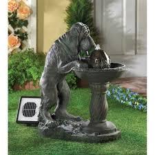 amazon com thirsty dog faux bronze garden solar water fountain