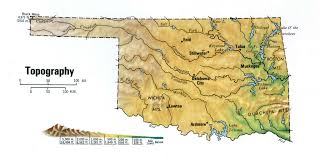 Topographic Map Usa by Oklahoma Topographic Maps Topographic Map
