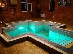 cross shaped baptismal pool baptism orthodox style i needed one