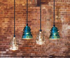 Pendant Lights Glass Remodelaholic Recycling Glass Insulators Into Pendant Light