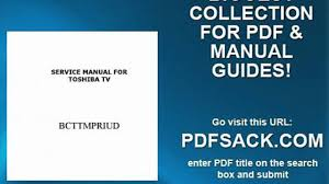 service manual for toshiba tv video dailymotion