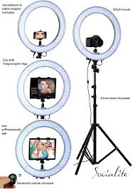 ring light for video camera socialite 18 led ipad ring light kit incl light 6ft stand