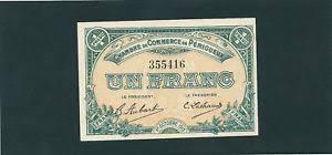 chambre de commerce perigueux billet chambre de commerce de perigueux 1 franc 1 octobre 1915 ebay
