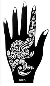 stencils for stencil henna designs for left single use