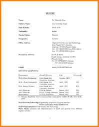 Sample Teacher Resume Indian Schools Interesting Resume Proforma For Teaching Job Also Resume Format