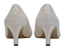 Wedding Shoes Rainbow Martha Lace Peep Toe Wedding Shoes