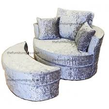 Swivel Chair And A Half Swivel Chair U0026 Half Moon Crush Velvet The Furniture Guy