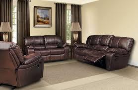 leather livingroom sets furniture stallion reclining leather living room set