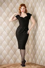 stop staring 50s thalia pencil dress in black