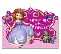 disney princess sophia birthday party invitations 8ct
