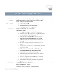 Coordinator Resume Sample by Download Staffing Coordinator Resume Haadyaooverbayresort Com