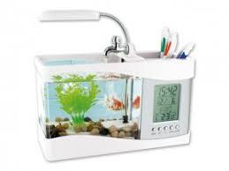 aquarium bureau ma460 mini aquarium avec circulation eau et pendulette