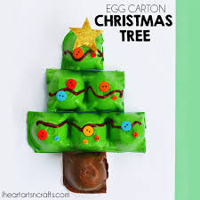 Arts And Crafts Christmas Tree - egg carton christmas tree craft i heart arts n crafts