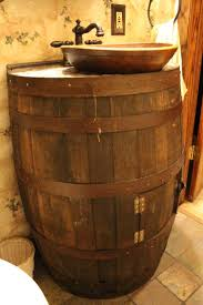 17 Inch Bathroom Vanity by Bathroom Decorating We Took An Old Wine Barrel And Old Wooden Bowl