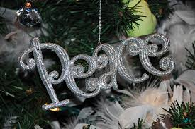 peace ornament stock image image of yuletide 17299037