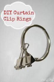 make curtain rings images Diy curtain clip rings grab any hemmed fabric no need for jpg