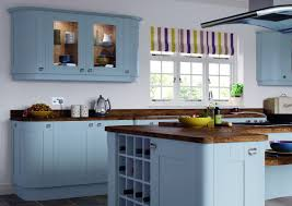 kitchen color idea trend kitchens with wall mounted cabinet painted blue color idea