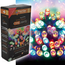 Multi Function Christmas Lights 200 Led 20m Premier Battery 8 Function Outdoor Smart Timer Lights