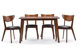Dining Room Table Amazon Com Baxton Studio Sumner Mid Century Style 5 Piece Dining