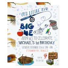 fish birthday invitations u0026 announcements zazzle canada