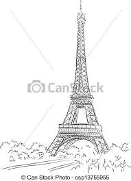 clipart vector of paris background with the eiffel tower