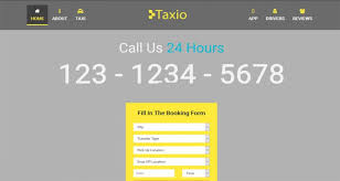 taxio cab services html5 landing page template