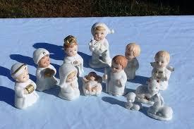 home interiors nativity set vintage homco snow babies nativity set 12 pieces home interior