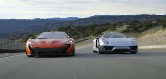 porsche mclaren p1 head to head porsche 918 spyder vs mclaren p1 autofluence