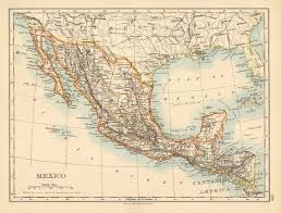 me a map of mexico mexico central america guatemala honduras nicaragua johnston