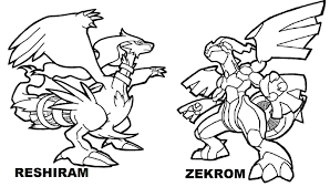 Pokemon Coloring Pages Reshiram Free Coloring Library