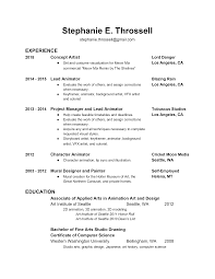 Vfx Jobs Resume by Stephanie Throssell U0027s Portfolio