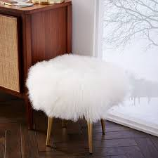 mongolian lamb stool west elm