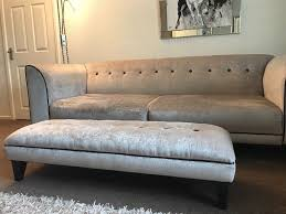 Grey Velvet Sofa by Sold Subject To Collection Stunning Suite Silver Grey Velvet Sofa