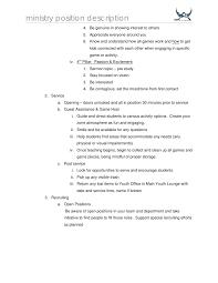 Host Job Description Resume by Job Description Game Host
