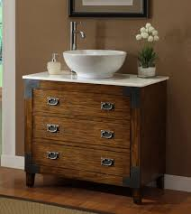 Bathroom Vanity Tops With Sink Adelina 36 Inch All Wood Construction Vessel Sink Bathroom Vanity