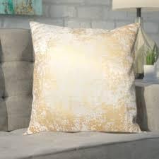 Metallic Cowhide Pillow Gold Metallic Pillow Wayfair