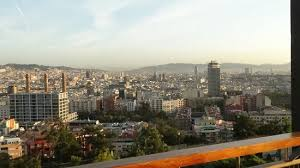 barcelona city view city view morning you can see almost the entire city picture