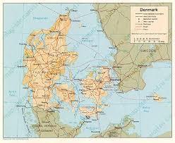 map of denmark map дании дания maps of denmark